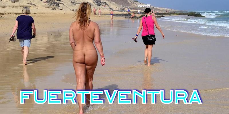 Nackt auf fuerteventura